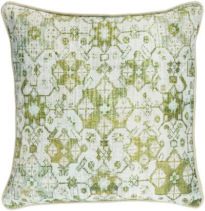 Roxana Cross-Stitch Pillow - Lime--Home Accessories