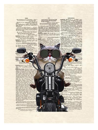 Roxie Motorcycle-Matt Dinniman-Art Print