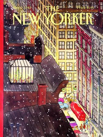 The New Yorker Cover - December 7, 1992 by Roxie Munro