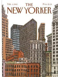 The New Yorker Cover - February 1, 1982 by Roxie Munro