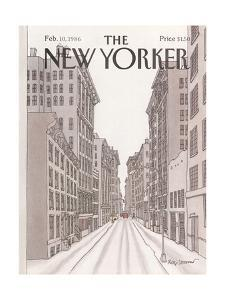The New Yorker Cover - February 10, 1986 by Roxie Munro