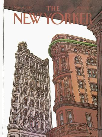 The New Yorker Cover - November 9, 1981 by Roxie Munro