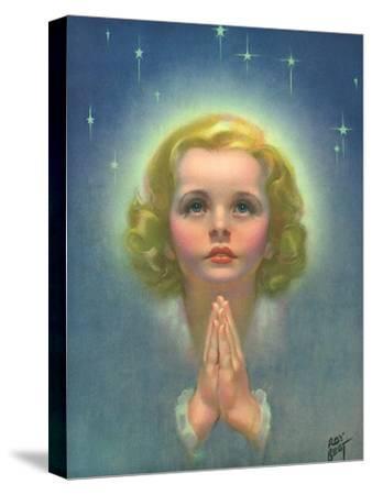 Blonde Girl Praying