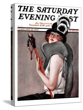 """""""Woman with Baton,"""" Saturday Evening Post Cover, February 28, 1925"""
