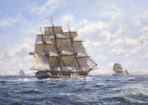 Before Trafalgar - R.N. Frigates Watch Off Cadiz by Roy Cross