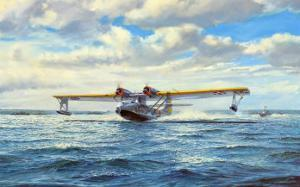 Great Catalina Take-Off by Roy Cross