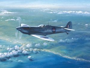 Spitfire Pr Mk IV Over Sicily by Roy Cross