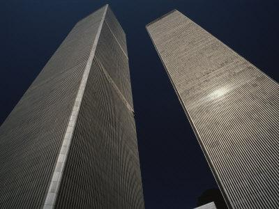 A View of the Twin Towers of the World Trade Center