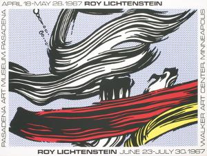 Brushstrokes at Pasadena Art Museum by Roy Lichtenstein