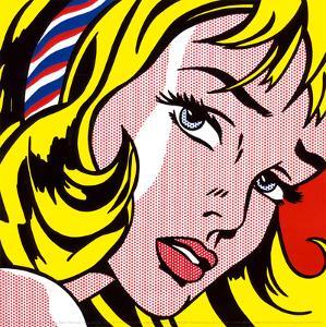 Girl with Hair Ribbon, c.1965 by Roy Lichtenstein