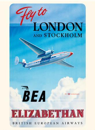 Fly To London And Stockholm - British European Airways (BEA) - Elizabethan Class