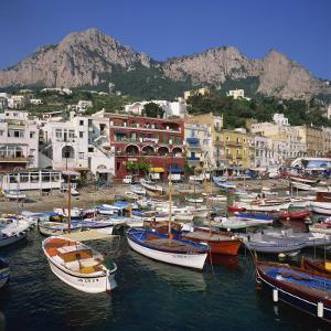 Boats Moored in the Marina Grande, Capri, Campania, Italy, Europe by Roy Rainford