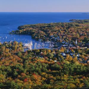Camden Harbour, Camden Hills State Park, Maine, New England, USA by Roy Rainford