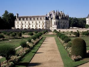 Chateau of Chenonceau and Garden, Touraine, Loire Valley, Centre, France by Roy Rainford