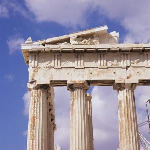 Detail of the Parthenon, Acropolis, Unesco World Heritage Site, Athens, Greece, Europe by Roy Rainford