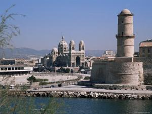 Fort St. Jean and Cathedrale De La Major, Marseille, Bouches-Du-Rhone, Provence, France by Roy Rainford