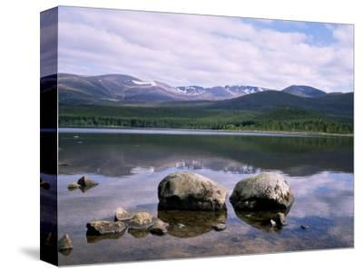 Loch Morlich and the Cairngorms, Aviemore, Highland Region, Scotland, United Kingdom