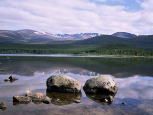 Loch Morlich and the Cairngorms, Aviemore, Highland Region, Scotland, United Kingdom by Roy Rainford