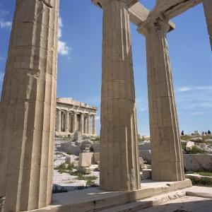 Parthenon Viewed from Propylaea, the Acropolis, UNESCO World Heritage Site, Athens, Greece by Roy Rainford