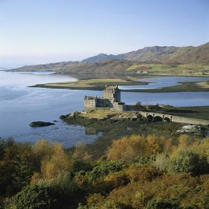 Scotland, Highlands, Eilean Donan Castle, Elevated View by Roy Rainford