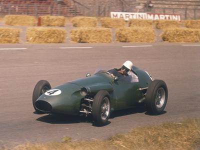 Roy Salvadori Driving an Aston Martin, Dutch Grand Prix, Zandvoort, 1959