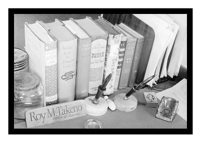 Roy Takeno's Desk-Ansel Adams-Art Print