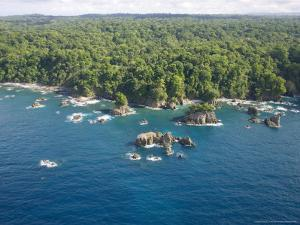 Aerial View of Costa Ricas Osa Peninsula Coastline by Roy Toft