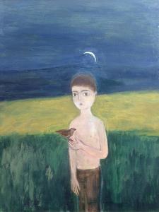 Boy with Bird, 2002 by Roya Salari
