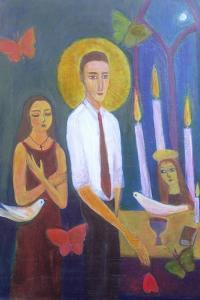 Evening Prayer, 2001 by Roya Salari