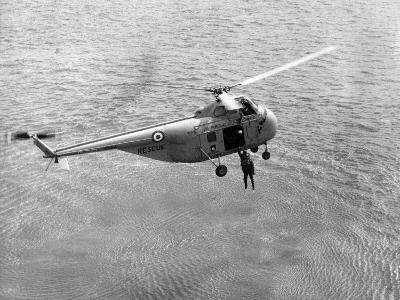 Royal Air Force Coastal Command Rescue Helicopters in Action--Photographic Print