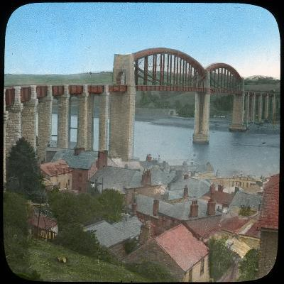 Royal Albert Bridge, Saltash, Cornwall, Late 19th or Early 20th Century--Giclee Print
