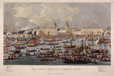 Royal Aquatic Excursion to Greenwich Hospital, 1838--Giclee Print