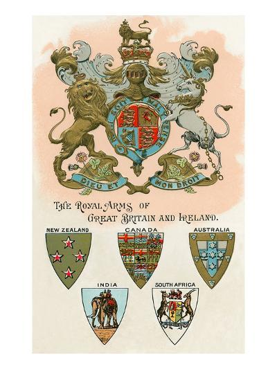 Royal Arms of Great Britain and Ireland--Art Print