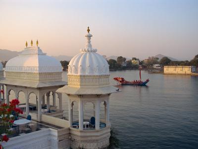 Royal Barge at the Lake Palace Hotel, Udaipur, Rajasthan State, India-Robert Harding-Photographic Print