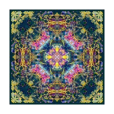 Royal Baroque Flower Mandala-Alaya Gadeh-Art Print