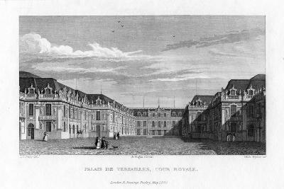 Royal Court, Palace of Versailles, Near Paris, 1829- Byrne-Giclee Print