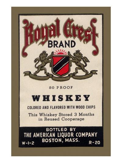 Royal Crest Brand Whiskey--Art Print