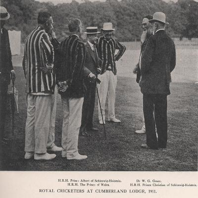 Royal Cricketers at Cumberland Lodge, Windsor Great Park, Berkshire, 1911-Ernest Brook-Giclee Print