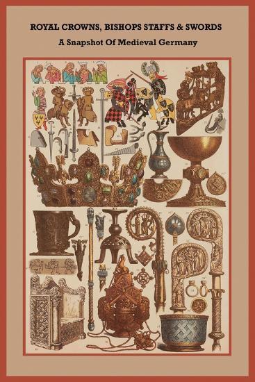 Royal Crowns, Bishops Staffs and Swords - Medieval Germany-Friedrich Hottenroth-Art Print
