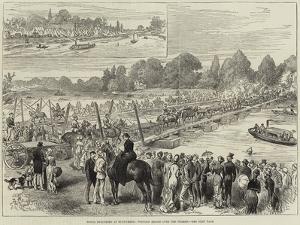 Royal Engineers at Runnymede, Pontoon Bridge over the Thames