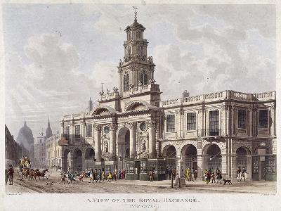 Royal Exchange (2N) Exterior, London, 1816-Daniel Havell-Giclee Print