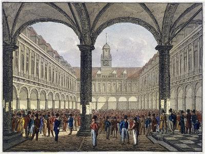 Royal Exchange (2N) Interior, London, C1830--Giclee Print