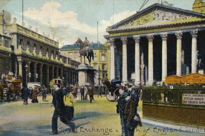Royal Exchange and Bank of England, London--Photographic Print