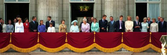 Royal Family on Queen Mother's 100th Birthday, Friday August 5, 2000--Photographic Print