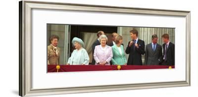 Royal Family on Queen Mother's 100th Birthday, Friday August 5, 2001
