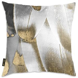 Royal Feathers Throw Pillow