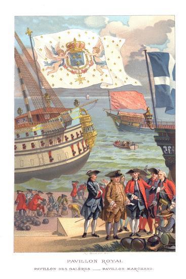 Royal Flag, Galleon Flag and Traders Flag- Urrabieta-Giclee Print