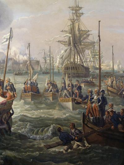 Royal Fleet Following Louis XVI at Cherbourg June 23-Louis Philippe Crepin-Giclee Print