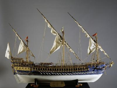 Royal French Galeas Model, 1:50 Scale, 18th Century--Giclee Print