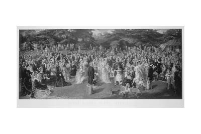 Royal Garden Party at Chiswick House, Hounslow, London, C1875--Giclee Print
